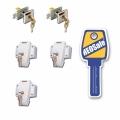 safetypack, 3x framelock + 2x toegangsdeur/luik, wit