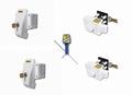 safetypack, 2x framelock + 2x toegangsdeur/luik, wit
